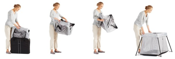 Le lit parapluie Babybjorn light, simple à déplier et à plier